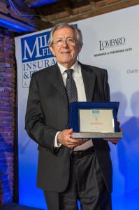 Alessandro Cocirio, ex Presidente di Fondapi, che ritira il premio